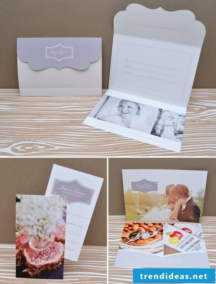 Make a wedding card - make a voucher yourself
