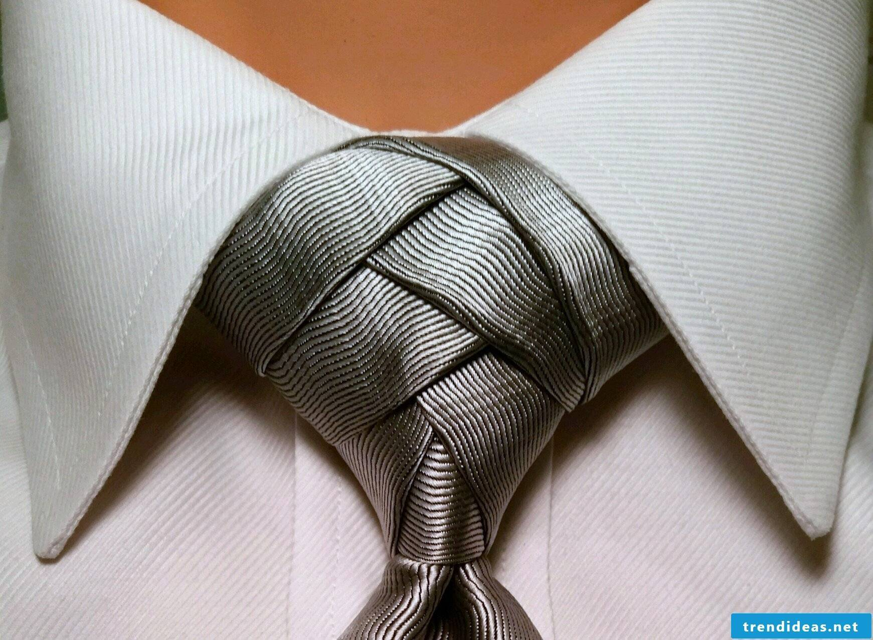 Instructions for unique tie knots can be found here!