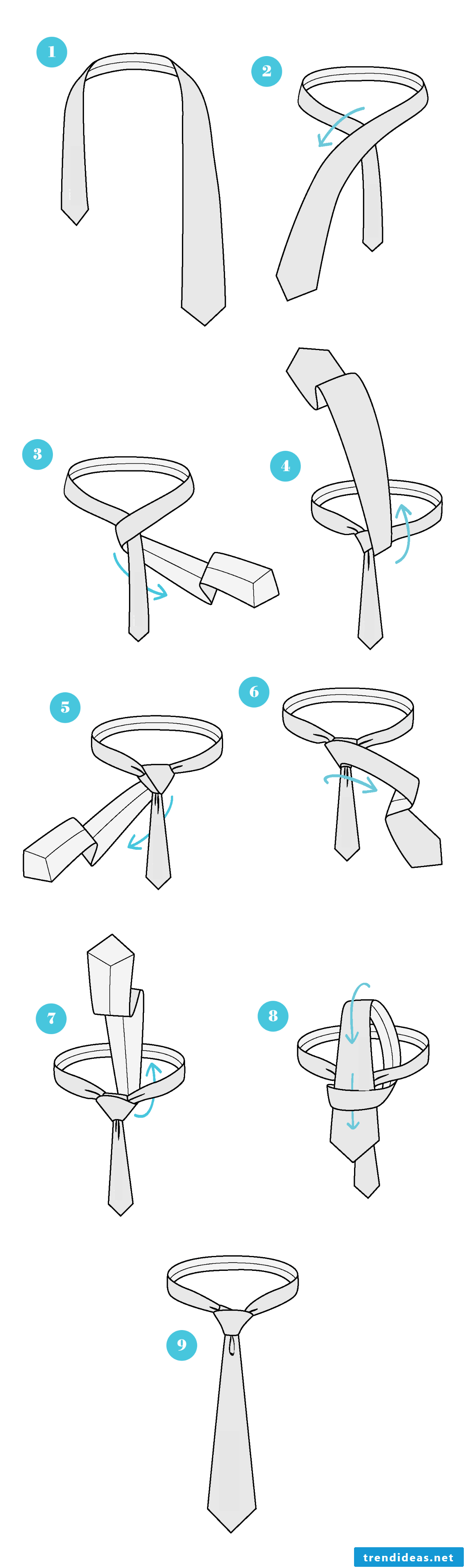 How do I tie a tie with Half Windsor knots?