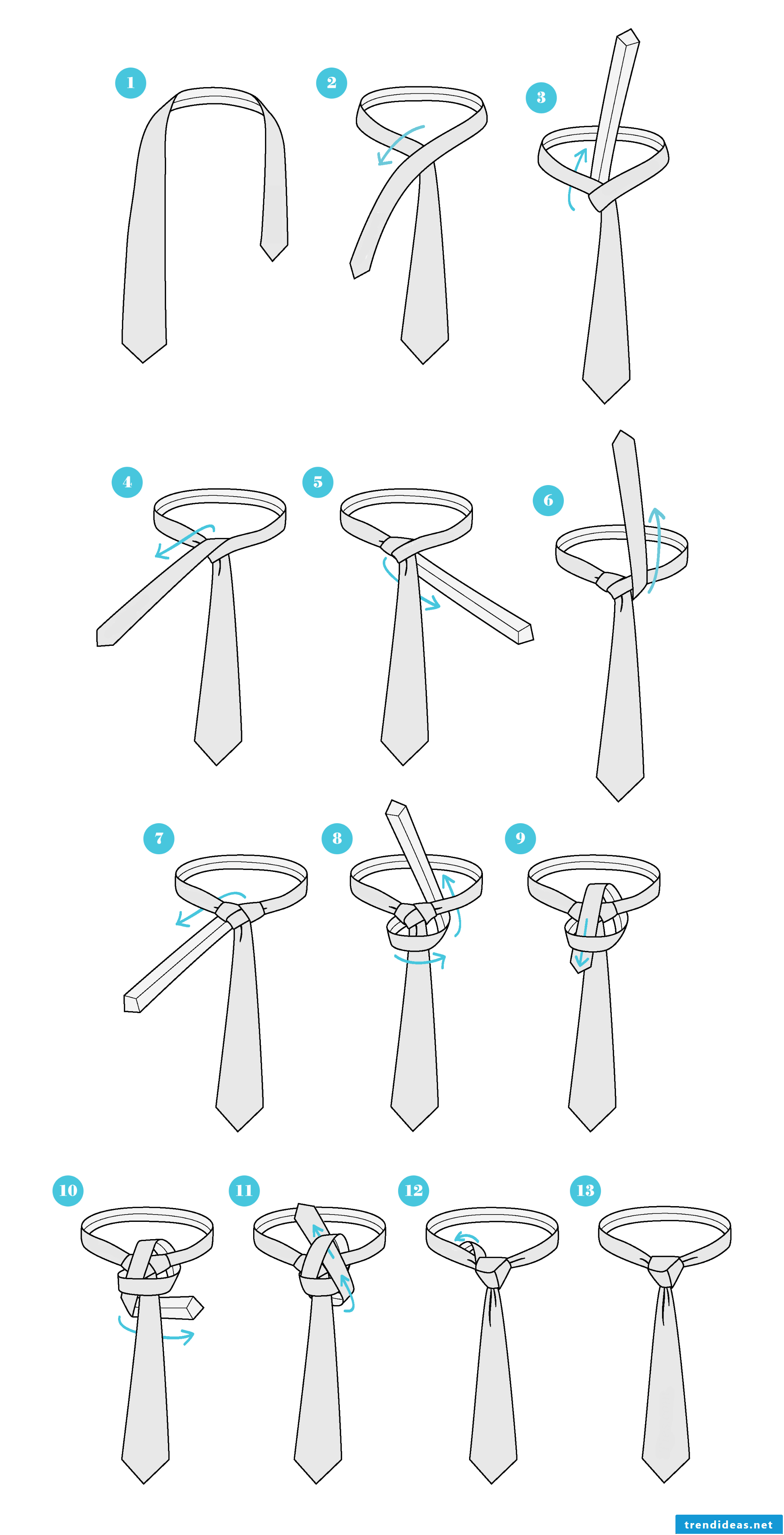 How do I tie a tie with Trinity knots?