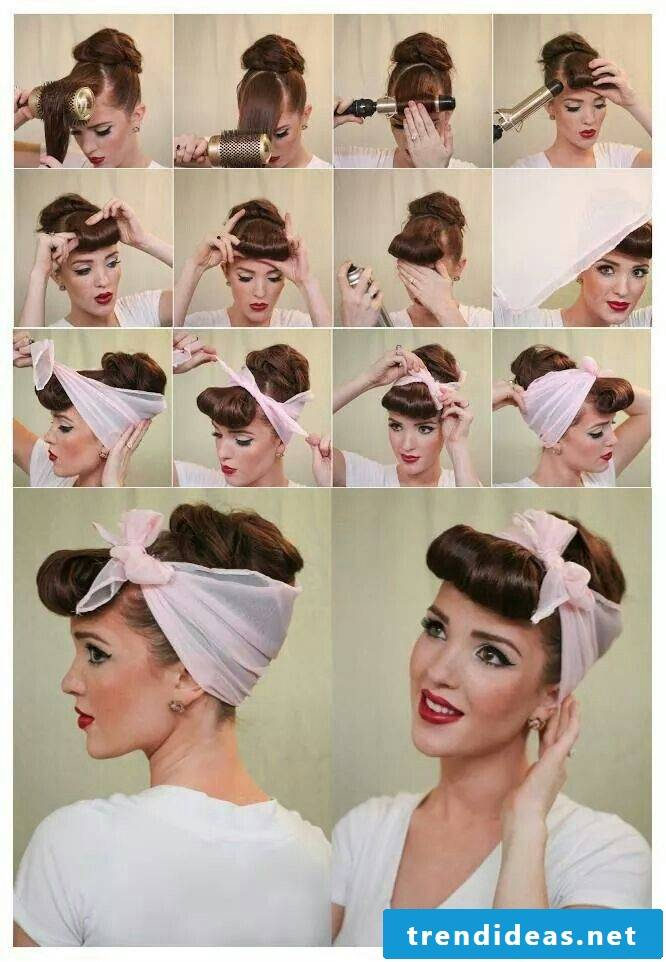 Hairstyles with hairband: detailed instructions