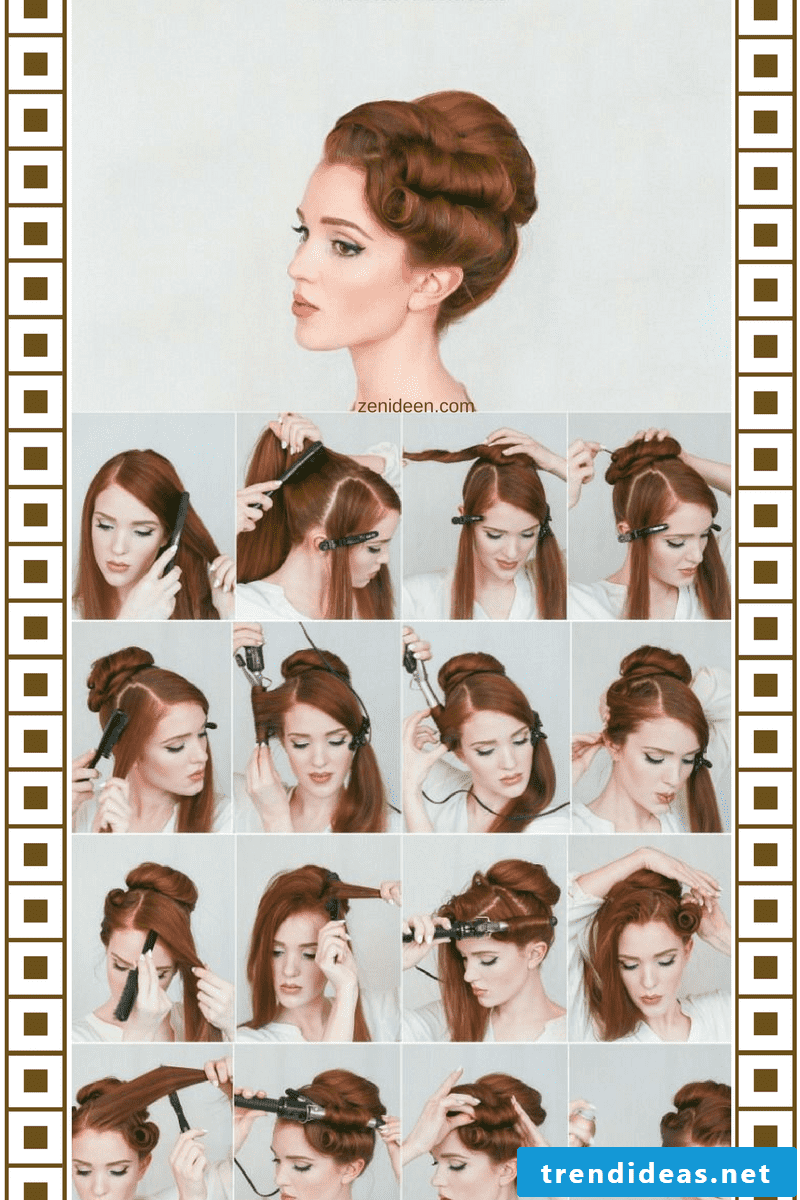 Instructions for updos easy and fast to conjure