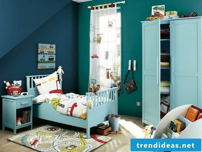 stylish fargbestaltung in blue and green