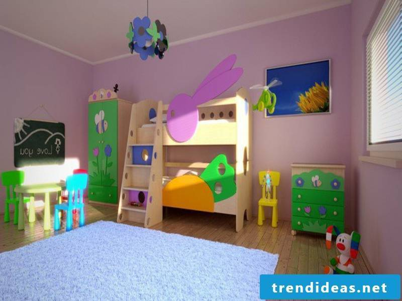 original purple walls in the nursery