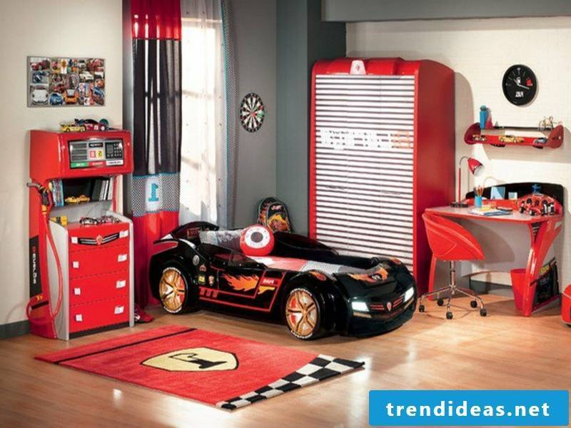 sporty design in the boy's room