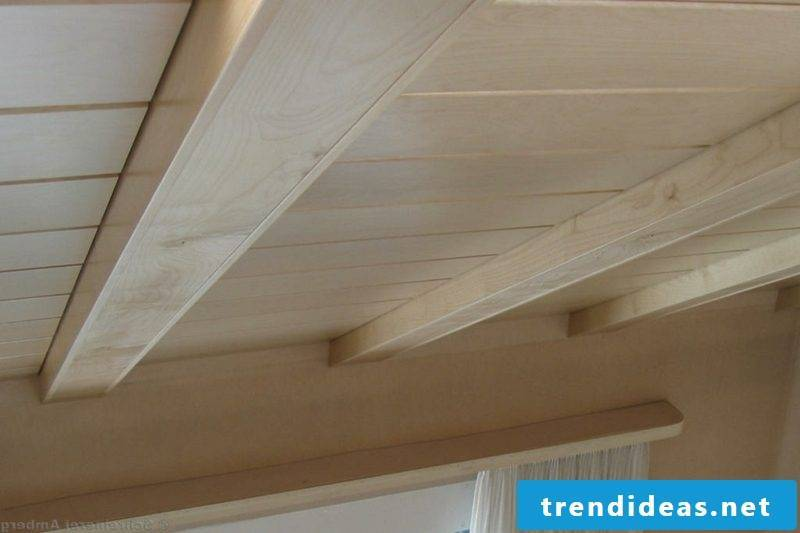 The wooden ceiling the perfect