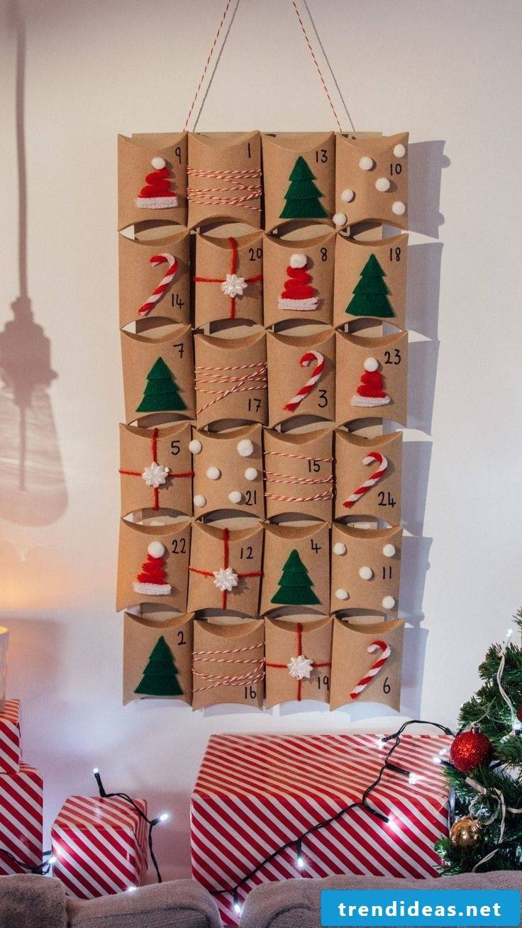 Toilet paper rolls to the advent calendar