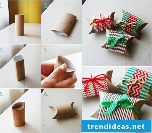 Advent calendar ideas with toilet paper rolls