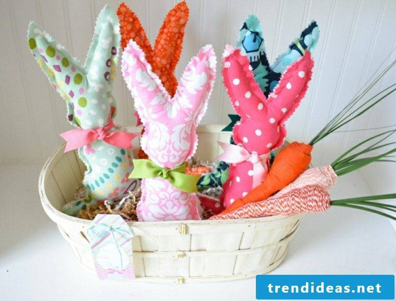 Easter decoration Making rabbits out of fabric
