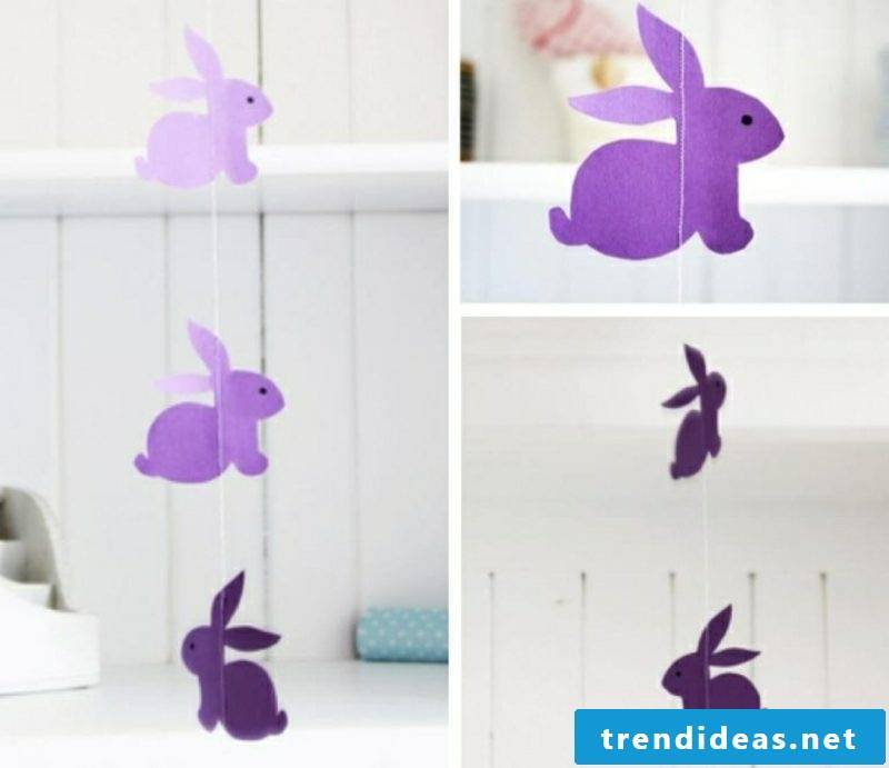 Easter decoration paper garland