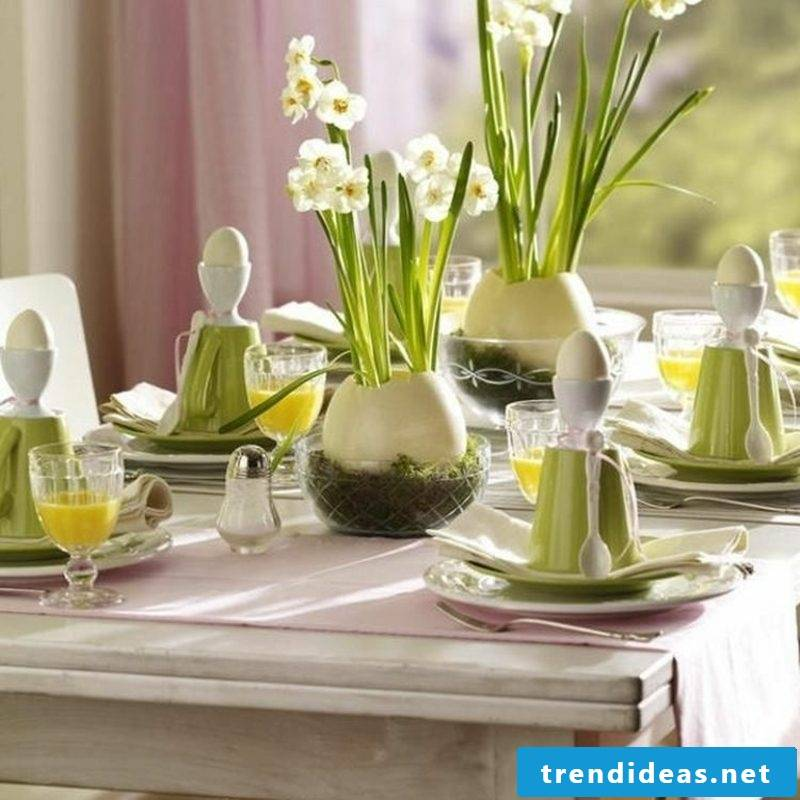 Easter decoration table festive