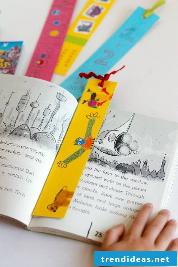 The best gift for teachers, adults and children - make bookmarks yourself