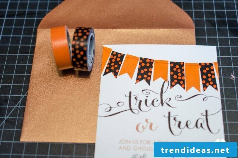 Halloween invitation with tape
