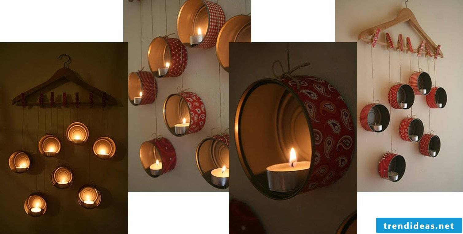 Lanterns Mobile from tin cans