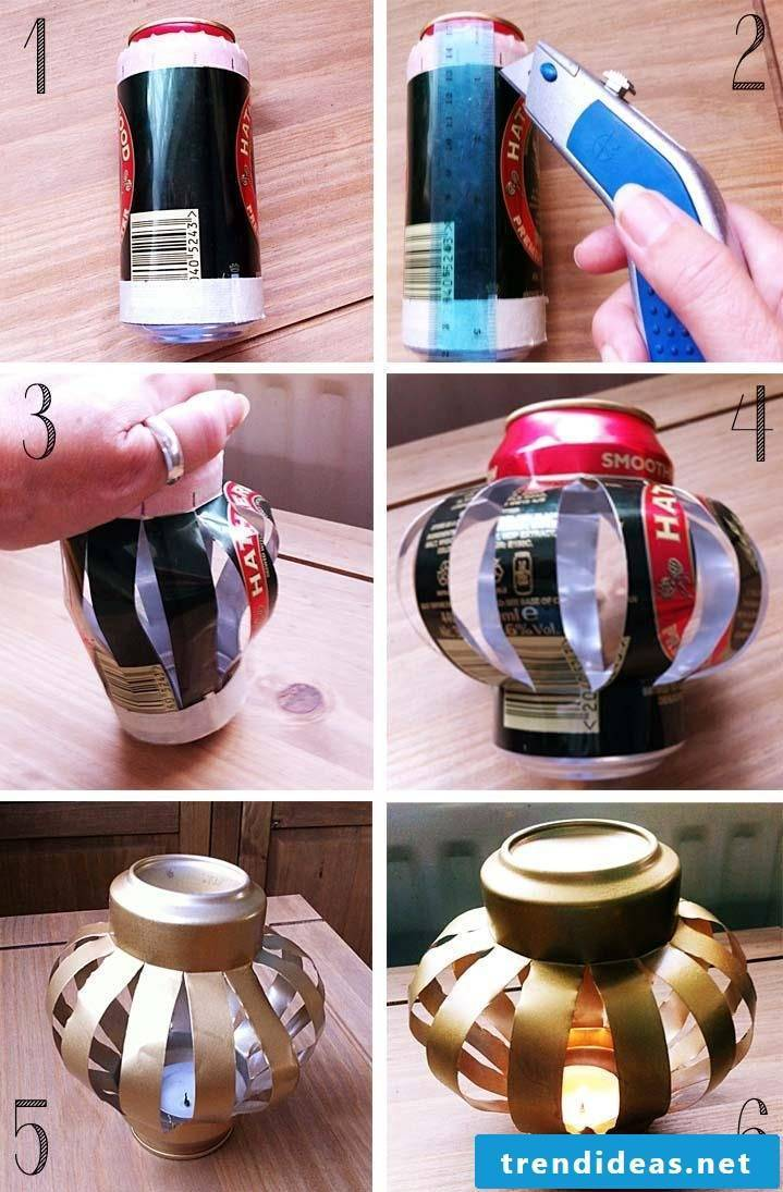 New craft ideas - Lantern made of beer can
