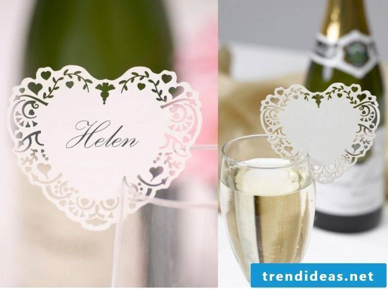wedding cards craft card in shape vm heart in glass