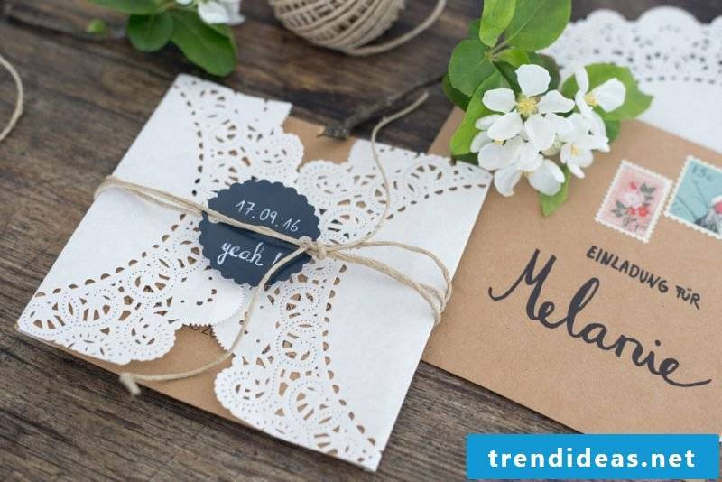 Tinker wedding cards in vintage style