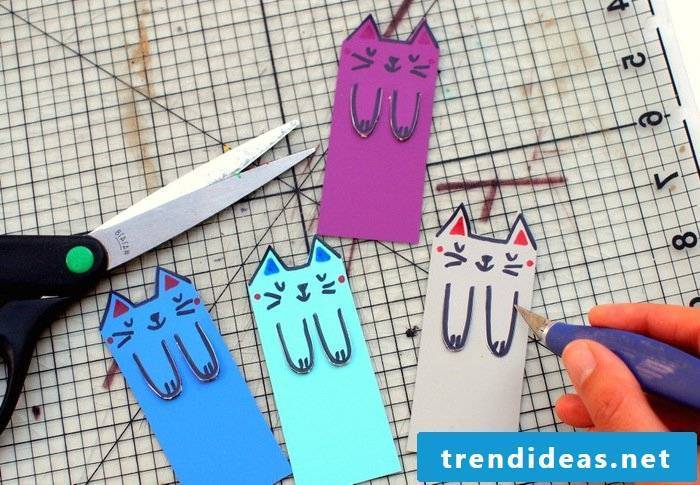 Crafting ideas for children: make funny bookmarks yourself - DIY instructions