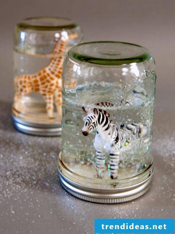 Crafting ideas for children DIY snow globes