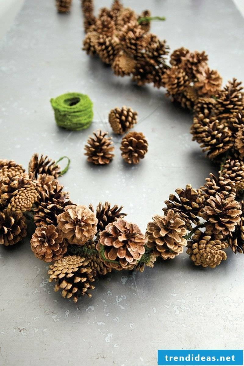 Tinker with pine cones DIY