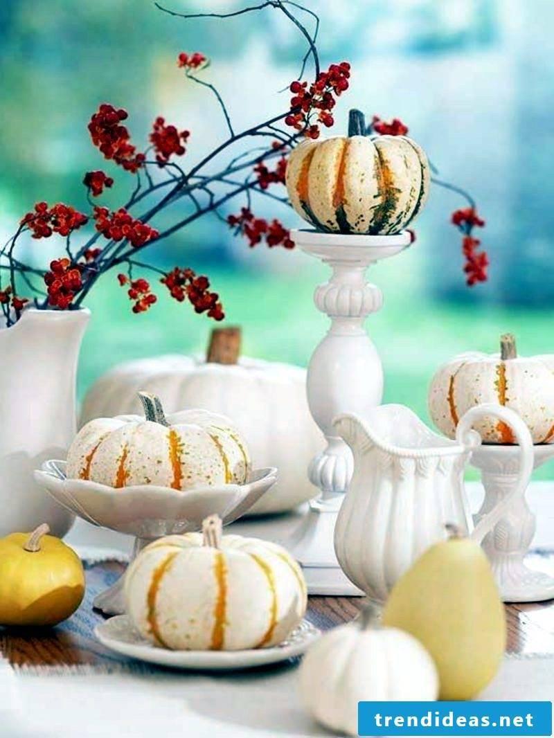 Fall table top pumpkins