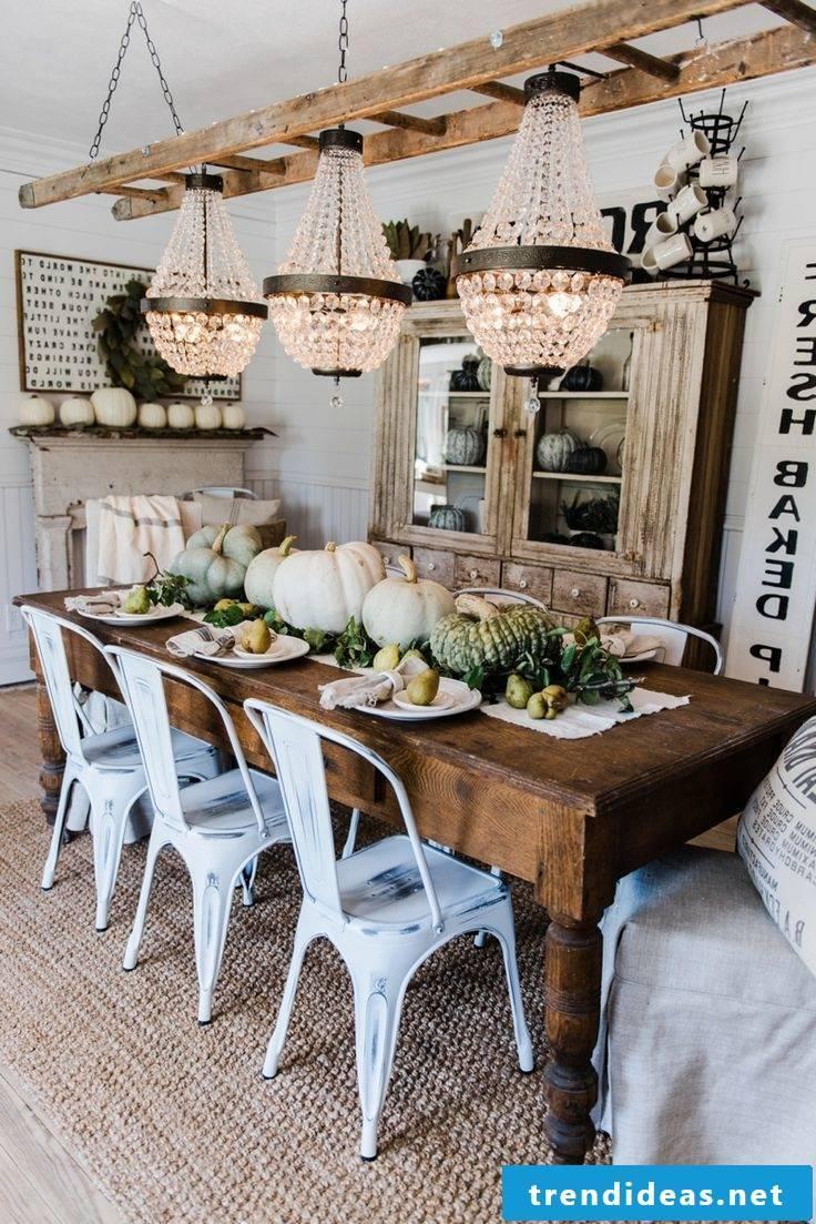Table decoration Autumn ideas in Scandinavian style