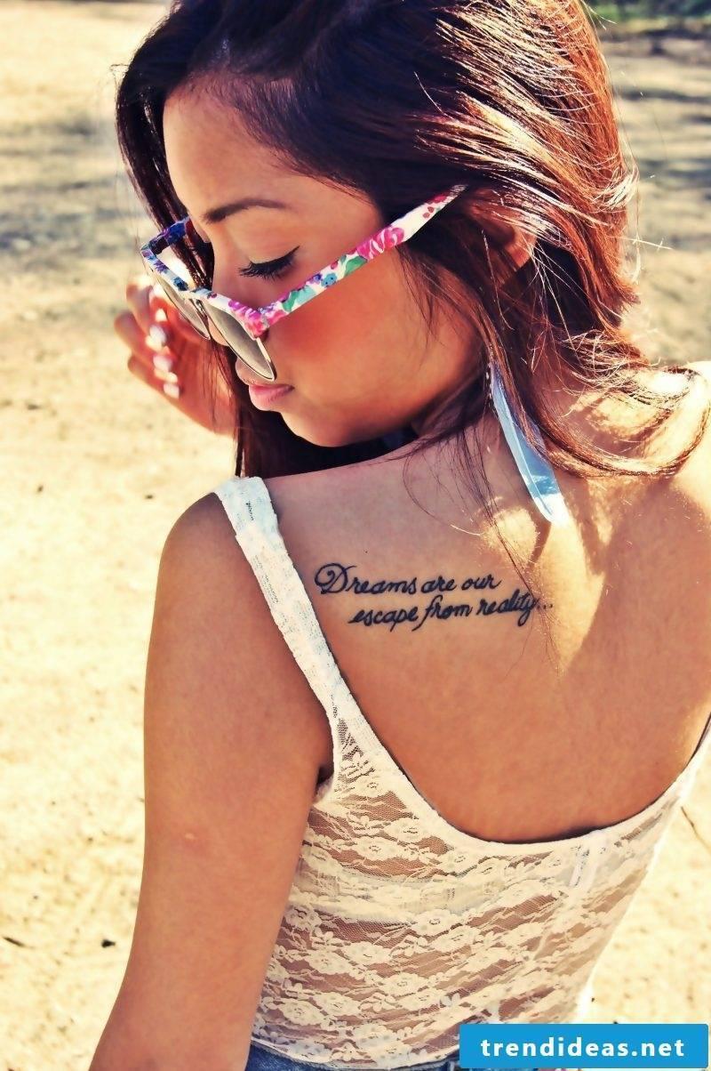 tattoo writing women back tattoo ideas