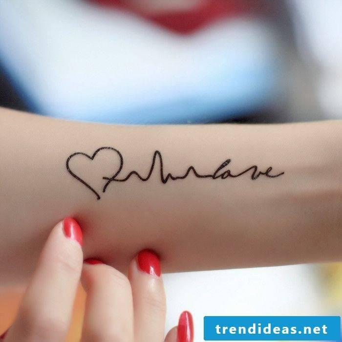 tattoo writings forearm ideas women