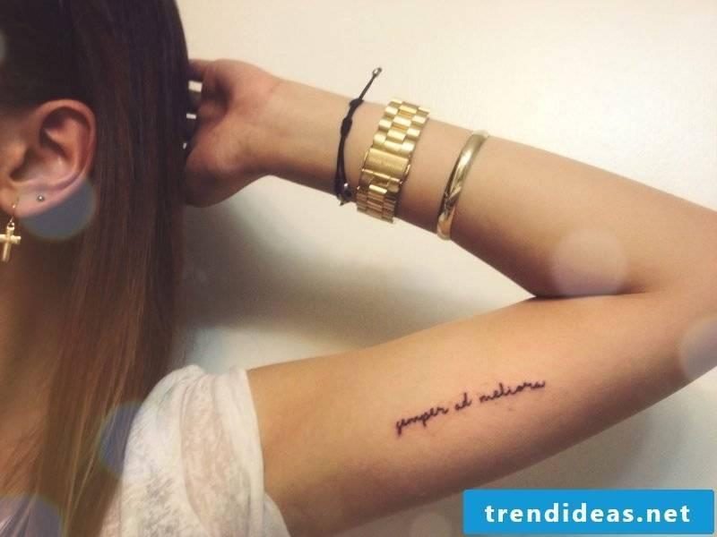 writings tattoos ideas women tattoo saying arm
