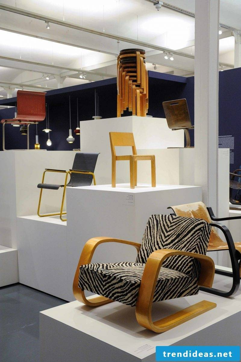 Furniture designer Aalto chairs