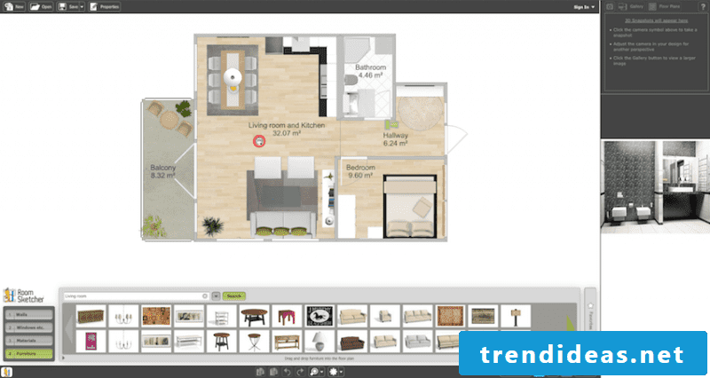 Room Designer RoomSketcher Interface House Scheme