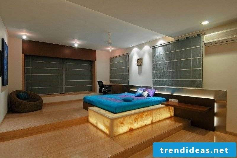 Bedroom design travertine tiles