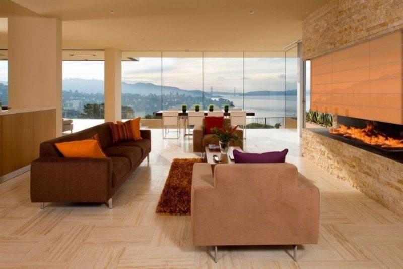 Travertine tiles creative design ideas