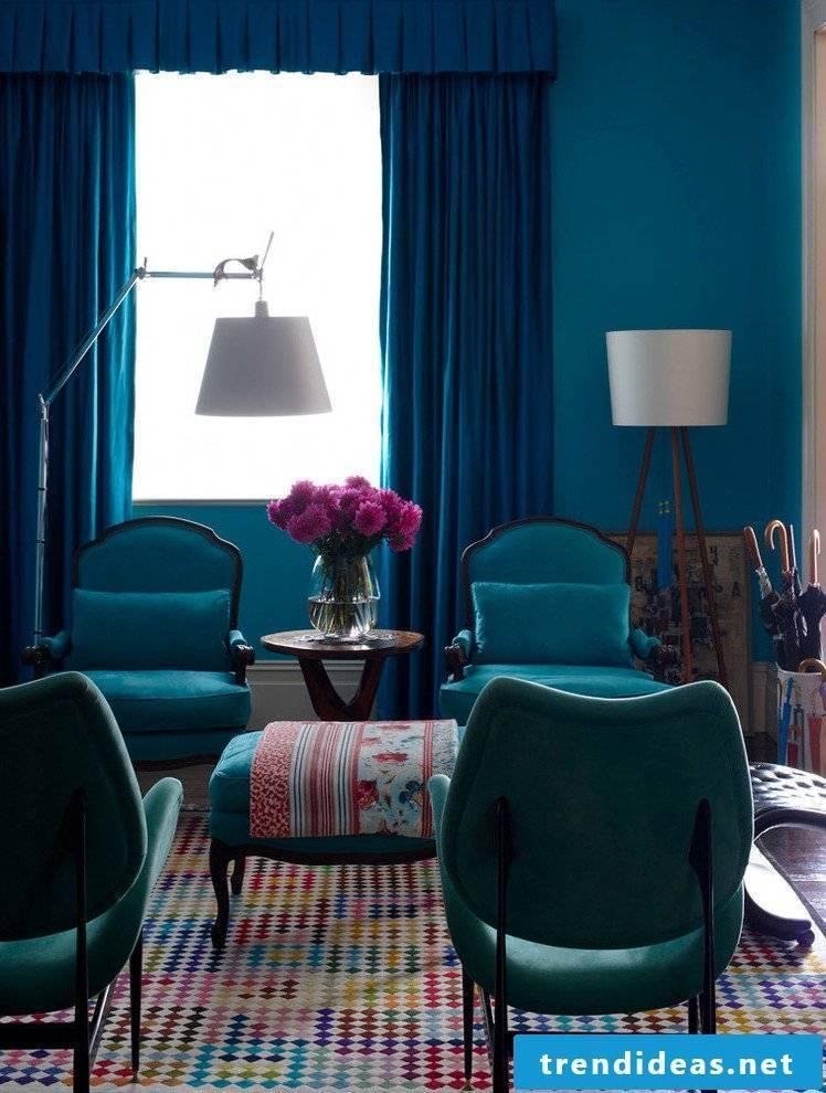 Color palette wall paints - petrol color is wall paint