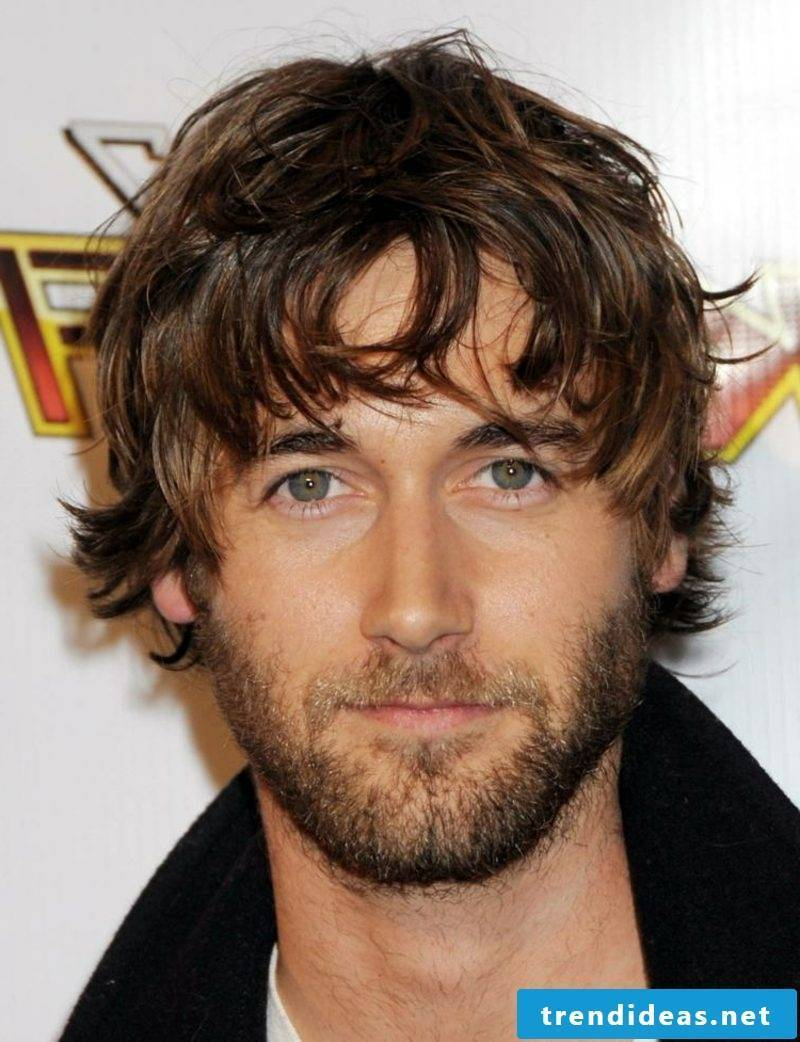 Trend hairstyles 2015 for men medium-long hair ragged look