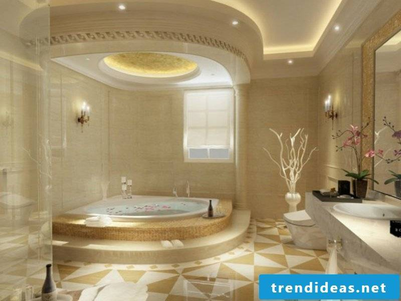 luxury bathroom lighting in the interior