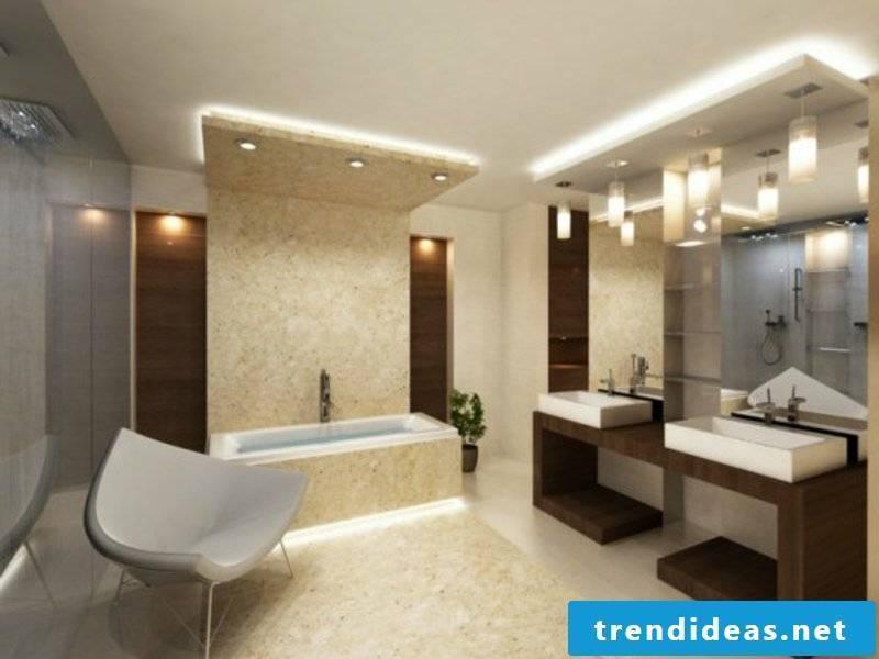 interesting idea for bathroom lighting