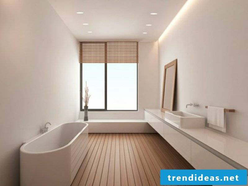 simple indirect lighting in the bathroom