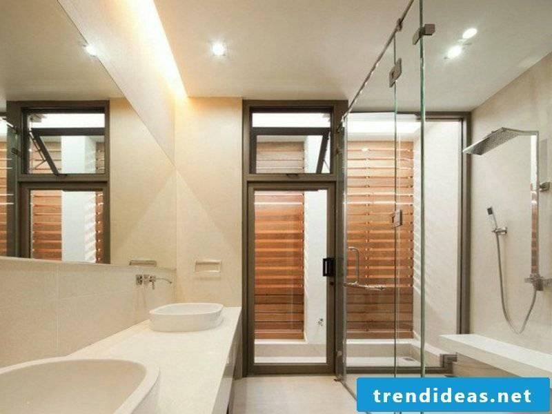 LED bathroom lighting in the modern house