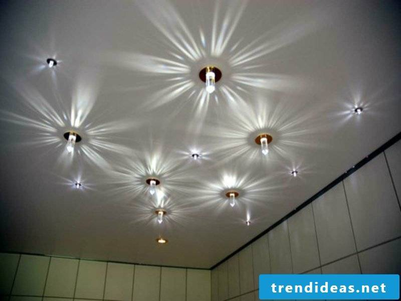 LED starlight in the bathroom
