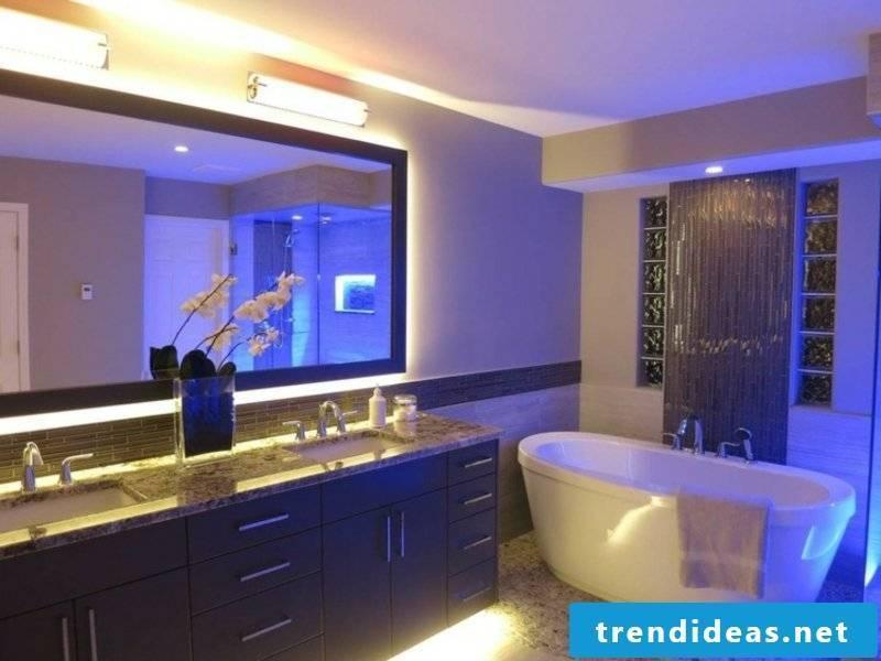 led bathroom lighting on the ceiling
