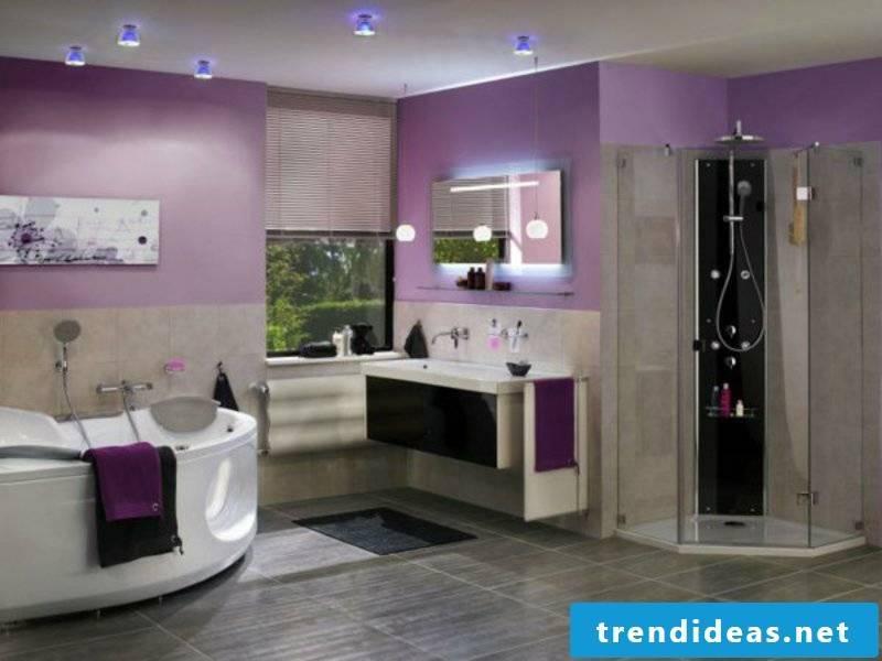 Delicate modern lighting in the bathroom