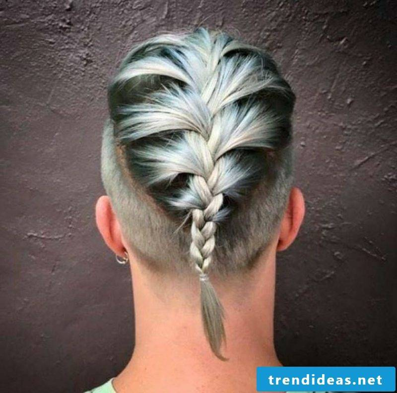Flechtzopf extravagant look men's hairstyles for 2015