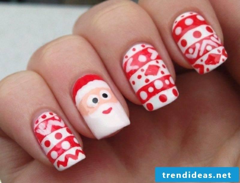 Nails design for christmas nicholas