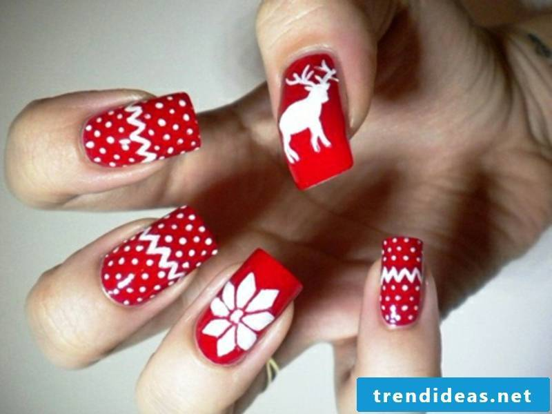 nageldesign-christmas-winter nails