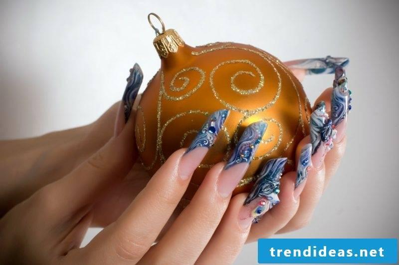Nail art design for christmas xmas ball