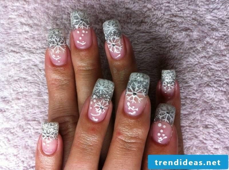 Snowflakes glitter white