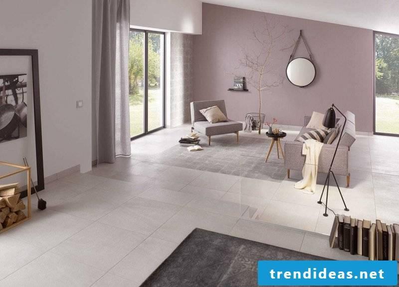 Tiles in the living room ceramic