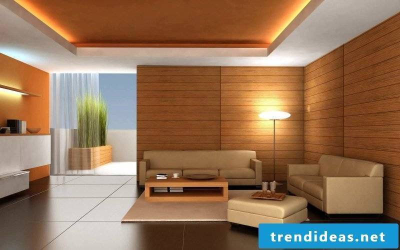 Tiles in the living room interior design