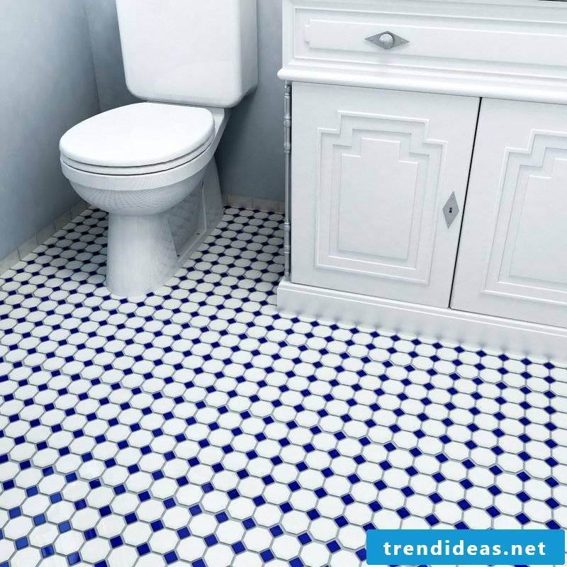 Tile laying pattern Cross dressing with insert